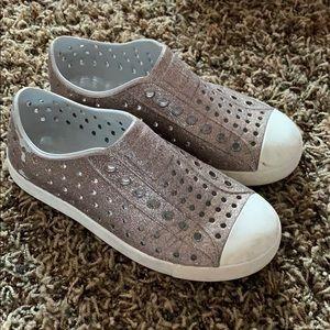 Size 13 Glitter Native Kids Shoe